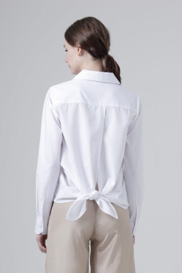 White Tie Back Shirt