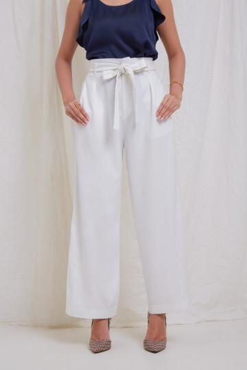 White Tie Pants