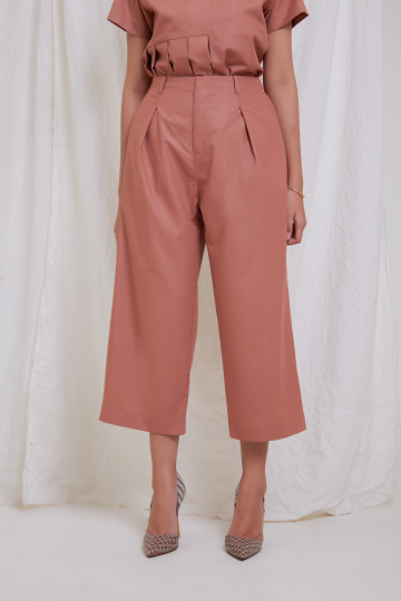Copper Clo Wide Leg Ankle Pants