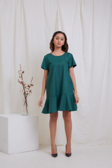 Green Flare Tang Dress