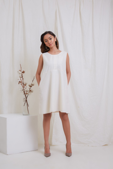 Creme Shift Dress