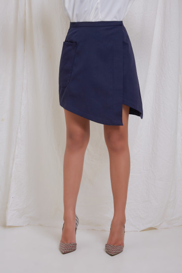 Navy Louis Skirt