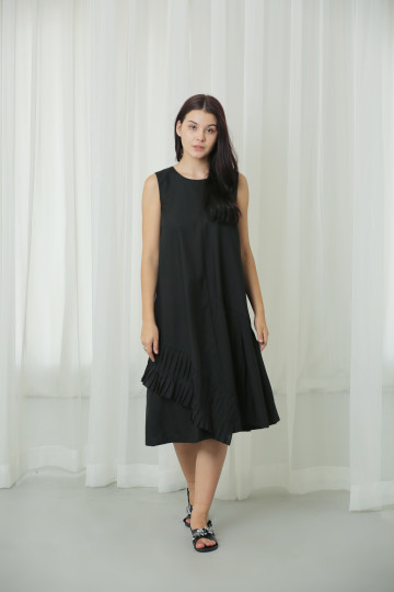 Midi Pleat Dress