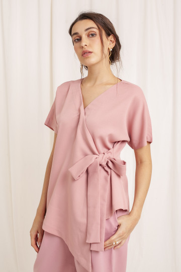 Slate Kimono Top Pink