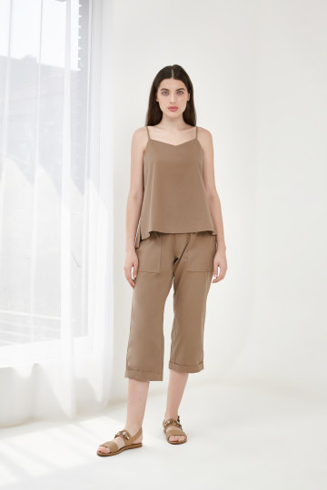 STEP TANK TOP BROWN