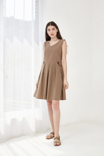 ZEINA DRESS BROWN