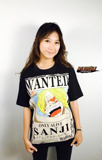 Kaos Sanji Wanted Black