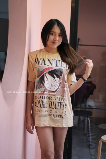 Kaos Luffy Wanted 1.5 Milyar Berry