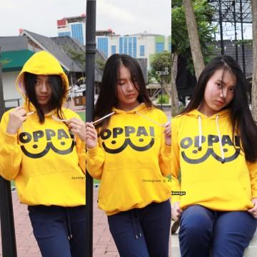 Hoodie Saitama Oppai Yellow