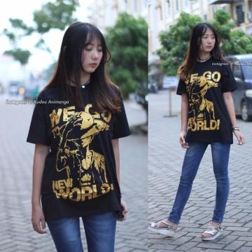 Kaos Luffy New World Gold