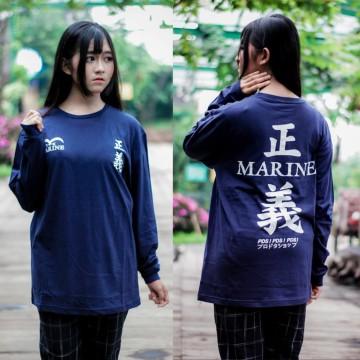 Longsleeve Marine Kanji