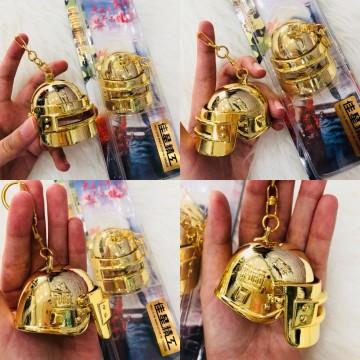 GANTUNGAN KUNCI PUBG LV 3 HELMET GOLD
