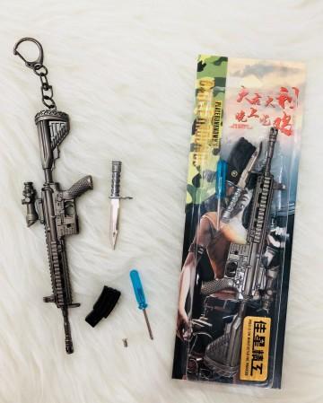 GANTUNGAN KUNCI PUBG RIFLE M416 WITH KNIFE