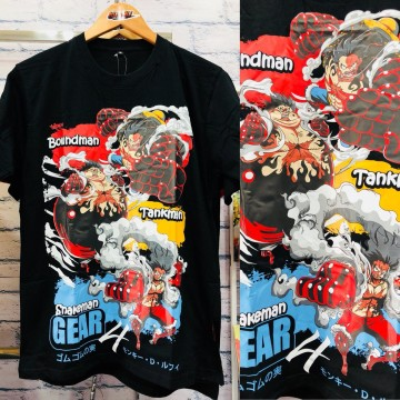 Kaos Luffy Gear 4th Black Series
