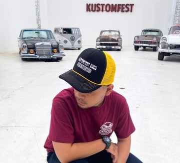 TRUCKER CAP KUSTOMFEST 2020 - BLACK YELLOW