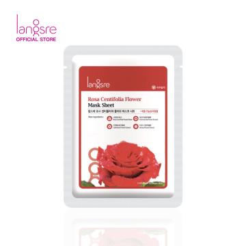Langsre Rosa Centifolia Flower Mask Sheet