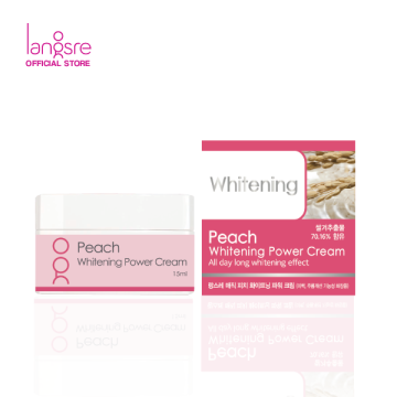 Langsre Peach Whitening Power Cream - Mini Size