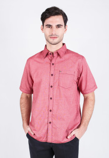 Regular fit - Casual shirt - Red Basic Shirt