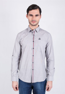 Slim Fit - Casual - Light Gray Shirt