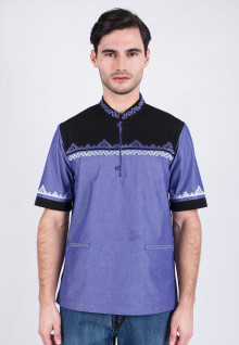 Slim Fit - Koko - Blue/Black - Short Sleeve
