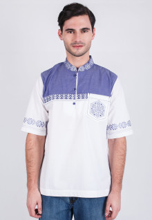 Regular Fit - Koko - Blue/White - Short Sleeve