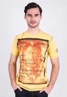 Slim Fit - Printed Tee - Yellow