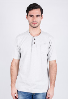 Slim Fit - Henley - White