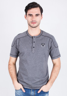 Slim Fit - Henley - Gray