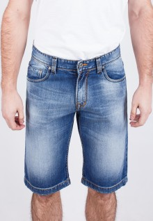 Short Slim - Bermuda - Blue - Aksen Washed - Whisker