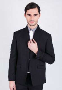 Slim Fit - Double Colar Formal Suits - Black