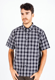 Regular Fit - Casual Shirt - Black/Gray - Checks