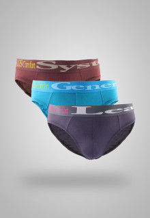 LGS Underwear - Purple/Blue/Brown / 3 Pcs