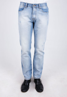 Slim Fit - Jeans - Light Blue - Ripped