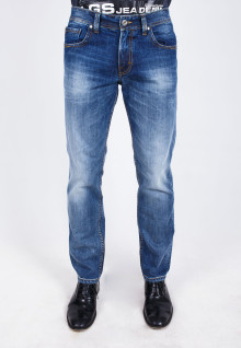 Slim Fit - Jeans - Blue Washed - Whisker