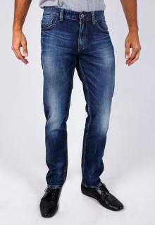 Slim Fit - Jeans - Blue - Aksen Washed - Whisker