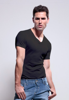 LGS Underwear - Black - VNeck - 1 Pcs