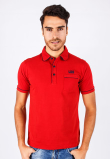 Slim Fit - Kaos Polo - Merah - Basic Polo