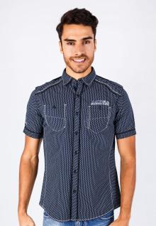 Slim Fit - Fashion Shirt - Dark Gray - Short Sleeve
