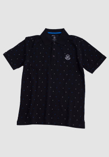 Slim Fit - Polo Shirt - Black - Polkadot