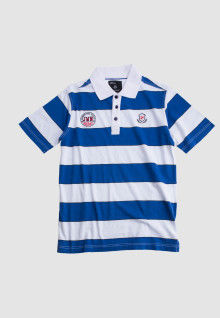 Slim Fit - Polo Shirt - Blue/White - Salur