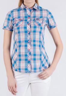 Regular Fit - Ladies Shirt - Blue/White - Plaid Shirt