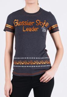 Regular Fit - Ladies T-Shirt - Gray - Glossier