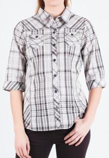 Regular Fit - Ladies Shirt - Gray - Long Sleeve