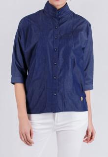Regular Fit - Ladies Shirt - Blue Navy - Long Sleeve