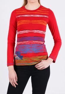 Regular Fit - Kaos Wanita - Merah - Printed Tee