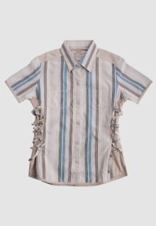 Regular Fit - Ladies Shirt - Brown - Striped