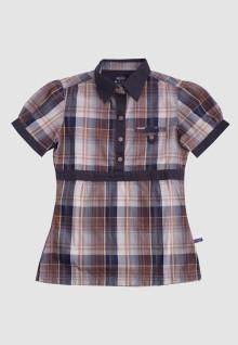 Regular Fit - Ladies Shirt - Brown - Plaid Shirt