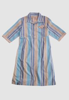 Regular Fit - Ladies Shirt - Blue/Brown - Salur