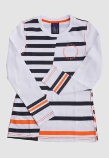 Regular Fit - Ladies T-Shirt - White - Striped Tee