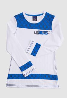 Regular Fit - Ladies T-Shirt - White/Blue